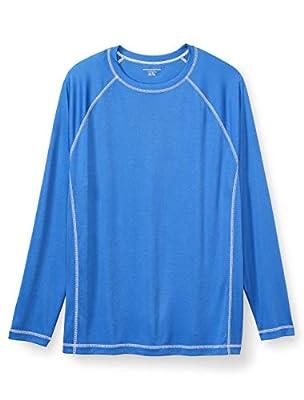 Amazon Essentials Men's Big & Tall Long-Sleeve Quick-Dry UPF 50 Swim Tee Swimwear, -Royal Blue, 4XL