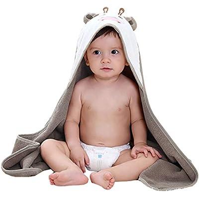 FeelMeStyle Baby Hooded Blanket Animal Fleece Bathrobe for Unisex Baby