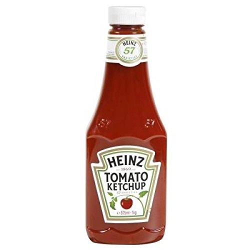 Heinz Tomato Ketchup superiore della bottiglia da spremere 1kg - ( Prezzo unitario ) - Heinz tomato ketchup top down flacon souple 1kg