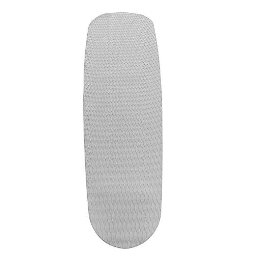Almencla Diamond Grooved Blue Traction Pad Deck Grip para Tabla de Surf Longboard - Gris