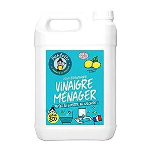 Paulette – Vinagre para el hogar anticalcáreo limón – Multi-Surfaces, Auténtico y Natural, Ecocert – Descalcificador y descalcificado para una limpieza en profundidad – 5 l