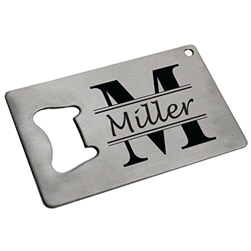 Personalized Beer Opener Man Card - Engraved Credit Card Bottle Wallet Opener - Custom Made - Classic Style