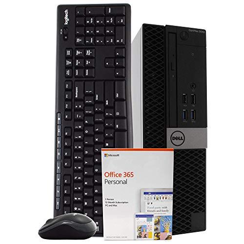Dell OptiPlex 5040 PC Desktop Computer, Intel i5, 8GB RAM, 500GB HDD, Microsoft Office 365 Personal, Windows 10 Pro, Wireless Keyboard & Mouse, New 16GB Flash Drive, DVD, WiFi, HDMI, USB 3.0 (Renewed)