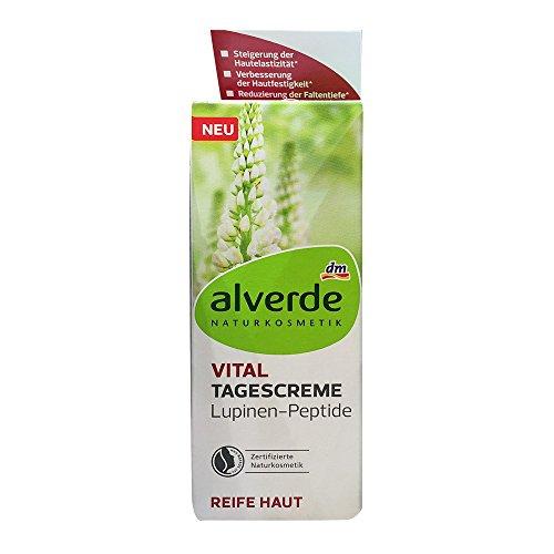 alverde NATURKOSMETIK Tagespflege Vital Lupinen-Peptide, 50 ml (1er Pack)