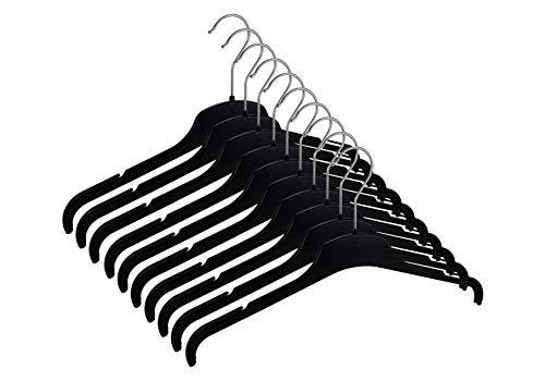CORTEC 10er Set TU43 Kleiderbügel aus Kunststoff für Shirts, Hemden, Blusen etc. - Made In Germany