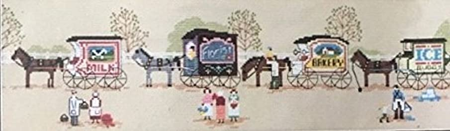 Dimensions Olde TYME Wagons Counted Cross Stitch Kit #3606 by Artist Charles Wysocki. 24