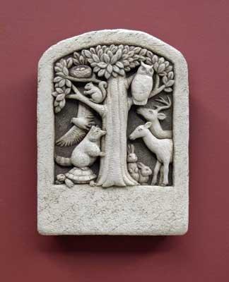 Carruth Studio, Woodland Gathering Garden Statue Figurine, Original Sculpture Handcrafted in Stone, Artisan Made