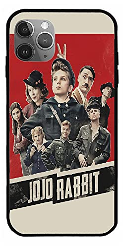 MDTEE Phone Case Compatible with iPhone 12 11 X Xs Xr 8 7 6 6s Plus Mini Pro Max Movie Adolf Hitler Comedy Drama JoJo Rabbit Blu Ray Red 2019 DVD Pure Clear Cases Cover Full Body