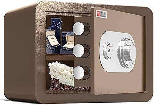 TOPNIU Caja de seguridad con cerradura de código mecánico, de acero, a prueba de fuego y antirrobo, caja de almacenamiento de archivos pequeños (tamaño: 25 cm)