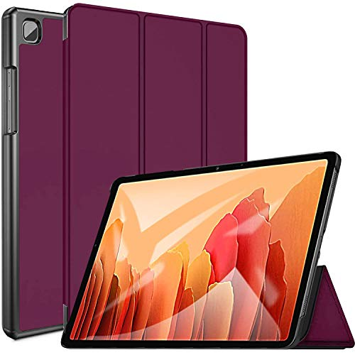 GALTD Samsung Galaxy Tab A7 10.4' Case 2020 Fits (SM-T500/ T505/ T507) Smart Stand Folio Premium PU leather Magnetic Auto Wake/Sleep Multi-Viewing Angles Slim Lightweight Protective Cover (Purple)