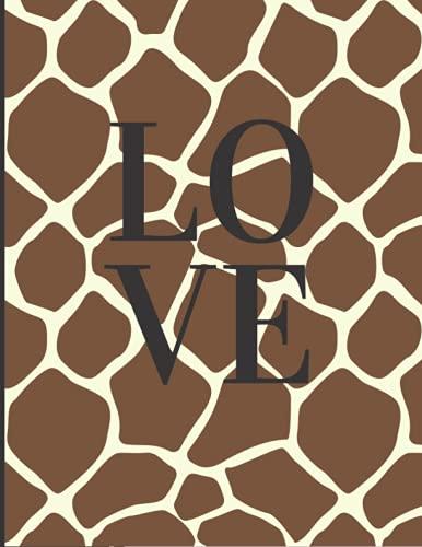 Notebook: Giraffe Print Composition Notebook: College Ruled 100 Print