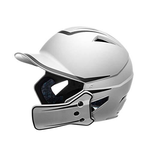 CHAMPRO HX Legend Plus Performance Baseball Batting Helmet with Removeable Jaw Guard in Two-Tone Color Matte Finish WHITE, BLACK, JUNIOR