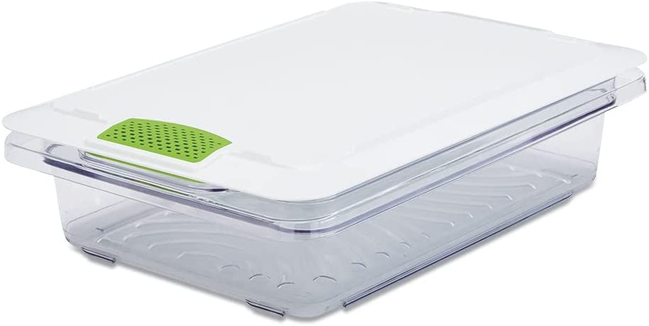 Rubbermaid Animer and price revision Commercial 2052931 FreshWorks 18 6.79 in. Al sold out. x 6.3