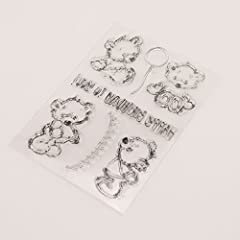 Dchaochao Bear Rubber Perfectly Clear Stamp,Photo Embossing Album Decorative/Card Making,Transparent Silicone Stamp Cling Seal DIY Craft Art #2