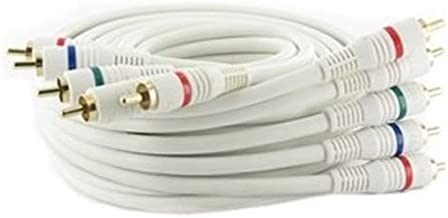 6Ft (6 Feet) 5-RCA Component Video/Audio Male to Male Cable RG-59/U White for HDTV, DVD