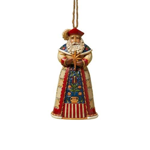 "Jim Shore Heartwood Creek Polish Santa Stone Resin Hanging Ornament, 4.5"""