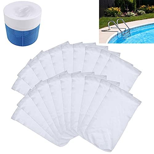 Hbsite 20 Pack Schwimmbad Skimmer Socken, Skimmer Netz für Pool Intex, Skimmer Filter für Filter Skimmer Korb,Dauerhafte Elastische Nylon Stoff Filter