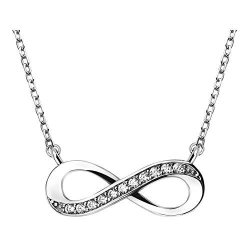 SOFIA MILANI - Damen Halskette 925 Silber - mit Zirkonia Steinen - Unendlich Infinity Anhänger - 50208