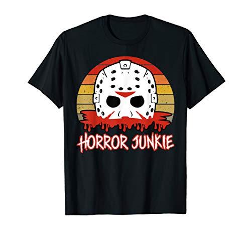 Vintage Horror Junkie Retro 80s Horror Short for Men, Women, S to 3XL