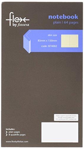 Filofax 874002 Flex Thin Plain Notizbuch Slim