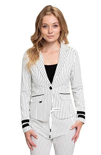 Zhrill Damen Blazer Anzugjacke Elegant Slim Fit Betsy, Größe:M, Farbe:N1088 - White