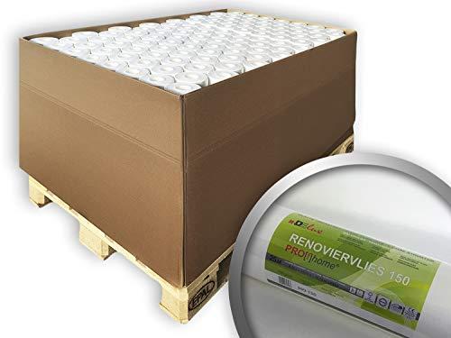 Renovatievlies overschilderbaar 150 g Profhome 399-150 reparatie vliesbehang voor wand en plafond wit | 80 rollen 1500 m2