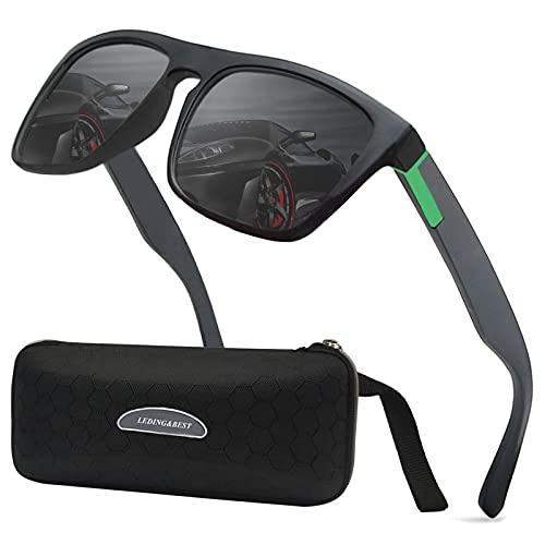 LEDING&BEST 2 Paia Occhiali da sole polarizzati per uomo donna/Pesca Golf Bicicletta Guida Pesca arrampicata Sport all'aperto occhiali da sole