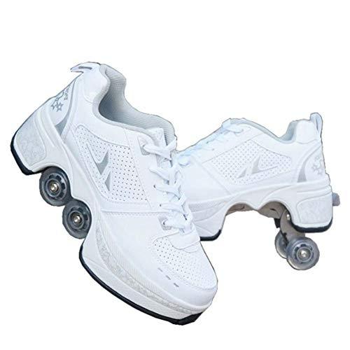 Fbestxie Unisex-Kinder Skateboard Schuhe Kinderschuhe mit Rollen Skate Shoes Rollen Schuhe Sportschuhe Laufschuhe Sneakers mit Rollen Kinder Jungen Mädchen,37