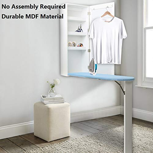 Topfire Ironing Board Cabinet Wall Mounted with Built-in Ironing Board Storage Cabinet