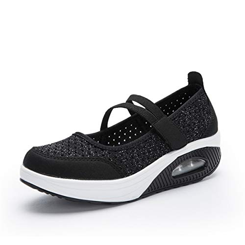 gracosy Zapatos Malla Caminar Mujer 2020 Casual Sport Zapatillas de Correr Plataforma Antideslizante Ligero Zapatillas Transpirables Confort al Aire Libre