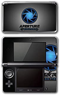 Portal 1 2 Gun Chell Gladdos Wheatley Aperture Laboratories Video Game Vinyl Decal Skin Sticker Cover for Original Nintendo 3DS System
