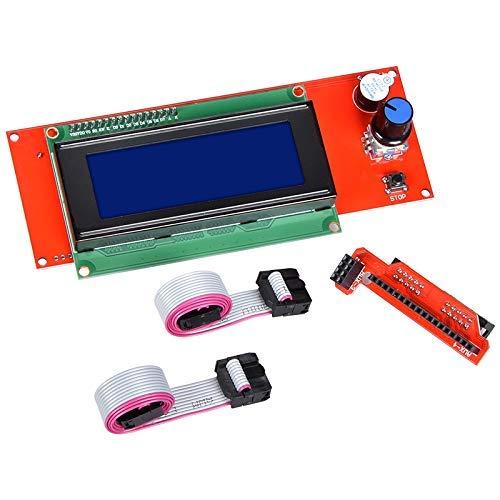 ICQUANZX 2004 Módulo de Controlador de Pantalla Inteligente LCD con Adaptador para RAMPS 1.4 Accesorio de Kit de Controlador de Impresora 3D Arduino Mega Pololu Shield