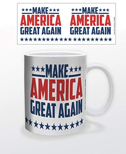 Donald Trump 2020 Make America Great Again MAGA Präsident Wahl Keramiktasse Teetasse lustiges Geschenk 340 ml
