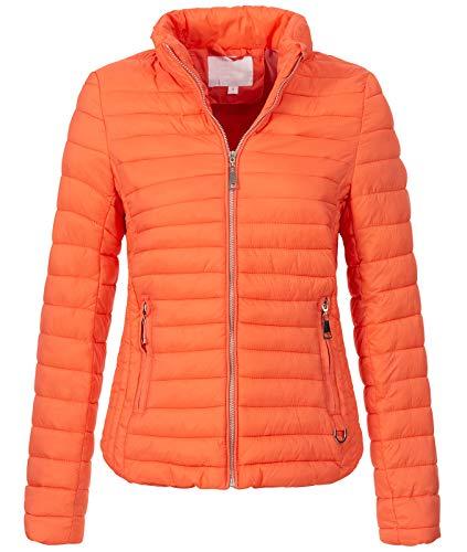 Rock Creek Damen Steppjacke Übergangsjacke Leicht Outdoorjacke Damenjacke Frauen Jacken Gesteppte Jacken Herbstjacke Jacke Weste D-427 Orange M