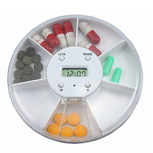ROSENICE Pille Dispenser Wecker Pille Kasten Elektronische Medikamente Erinnerung 7 Fach