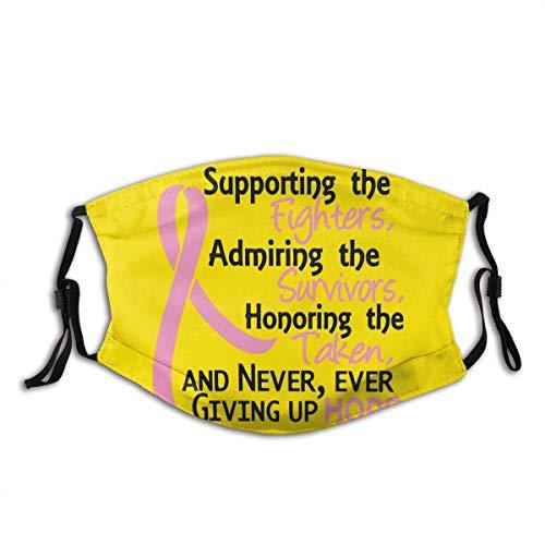 Unterstützung bei der Bewunderung der Brustkrebsunterstützung im Freien Bandanas Waschbarer und wiederverwendbarer Mundschutz für Staubschutz Anti Gesichtsschutz Waschbare Sturmhauben-Sturmhauben