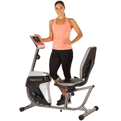 Fitness Reality R4000 Magnetic Tension Recumbent Bike with Workout Goal Setting Computer