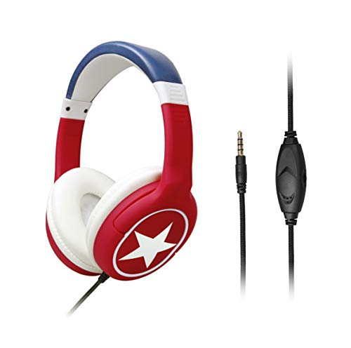 Kids Headphones with Microphone Over-Ear, Adjustable Headband, Stereo Sound, 3.5mm Jack, Tangle-Free, Volume Control, Wired Children Headphones for PC Cellphone Kids Children Teens Boys Girls School