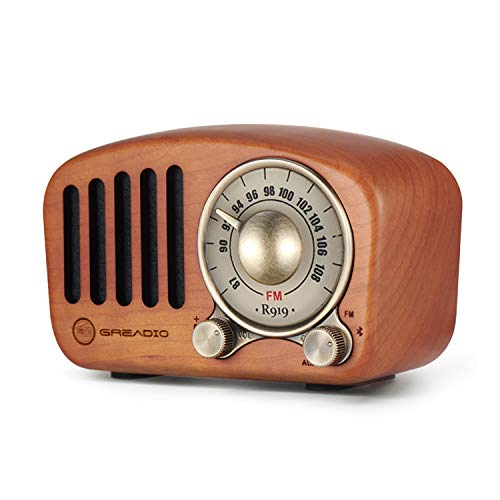Greadio Vintage Wooden FM Radio