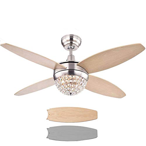 SenHome 52'' Crystals Ceiling Fan Lights with Remote Control...