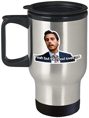 Jackgold Honey Coffee Mug for Best Gifts Yeah But The Hood Loves Me Coffee Mug Cup (Travel) Scott Keeping Up with The Kardashians Gift Merchandise Shirt Sticker Decal Art Decor