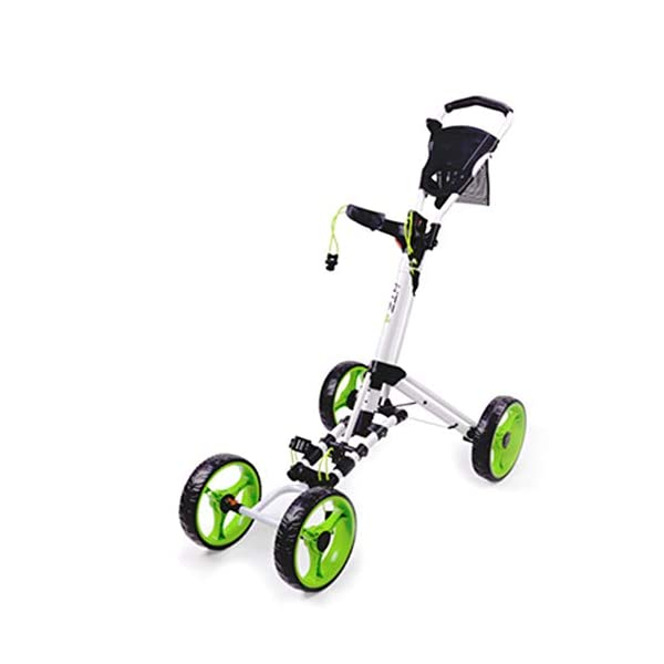 Golf-Chariot-Poussant-Pivotant-Pliable-4-Roues-Pousser-Chariot-Chariot-Golf-Chariot-Chariot-Golf-Cart-en-Alliage-Daluminium-Chariot-Pliable-Chariot-LgerVert