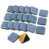 Furniture Glides, 20 Stück Teflon Möbelgleiter Selbstklebend PTFE Gleiter für Möbel Easy Mover(Quadrat)