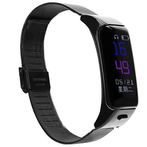 Shipenophy Pulsera deportiva inteligente mejora la calidad del sueño reloj inteligente pulsera inteligente cómodo diseño ergonómico para hombre