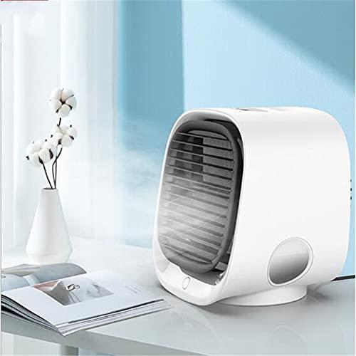 qwert Ventilador de Aire Acondicionado, Ventilador de Aire Acondicionado USB Adecuado para escritorios, Mini Mini humidificación del Enfriador de Aire,Blanco