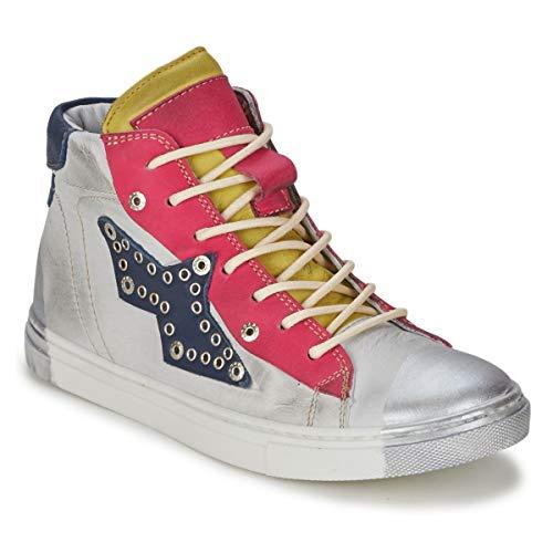 HIP 31LE/84LE/46LE Sneakers meisjes Wit paars fuchsia blauw Hoge sneakers