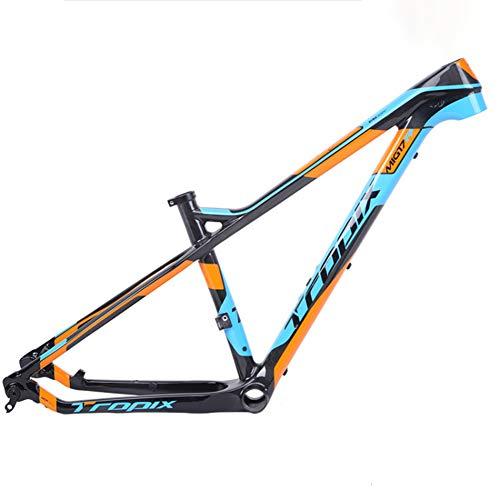 MXSXN Cuadro De Carreras De Carretera De Fibra De Carbono T800 MTB 27.5er 142mm * 12mm 700c Cuadros De Bicicleta 15/17 Pulgadas Bb92,15 Inches