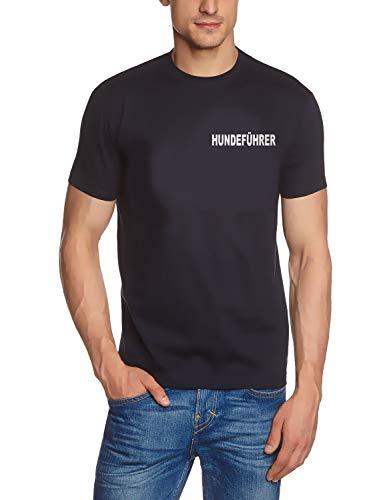 Hondengids T-shirt donkerblauw reflecterende print voor en achter maat S, M, L, XL, 2XL, 3XL, 4XL, 5XL, hondentafel, agility, puppenschool honden, rassen, training hondentraining
