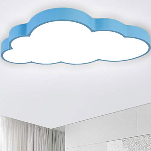 CASNIK LED luce di soffitto lampada Nuvole Plafoniera a LED del soffitto disimpegno camera da letto della lampada salotto energetico cucina risparmio di luce (blu-48W Dimmerabile)