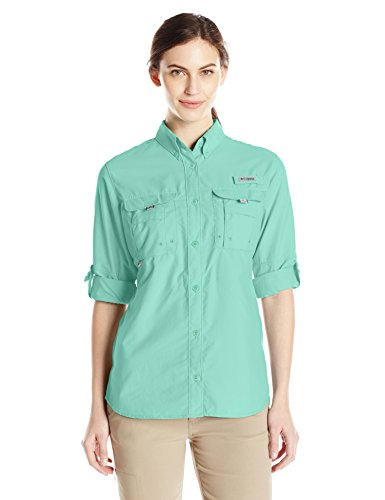 Columbia Women's Bahama Long Sleeve Shirt, Pixie, Large